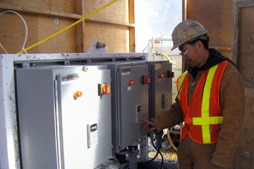 electrical equipment for cellular grouting