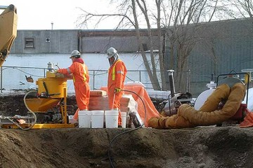 void filling and soil stabilization waste water treatment plant