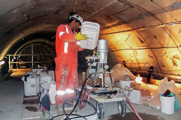 Tunnel chemical grouting