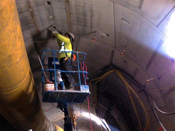 Void Filling in Tunnel Liner at Eglinton Crosstown Project