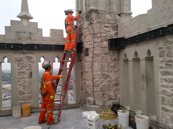 Chemical grouting for masonry restoration