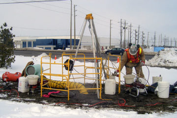 Chemical grouting for underground utilities