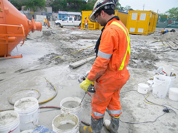 cement grouting for LRT tunnel construction