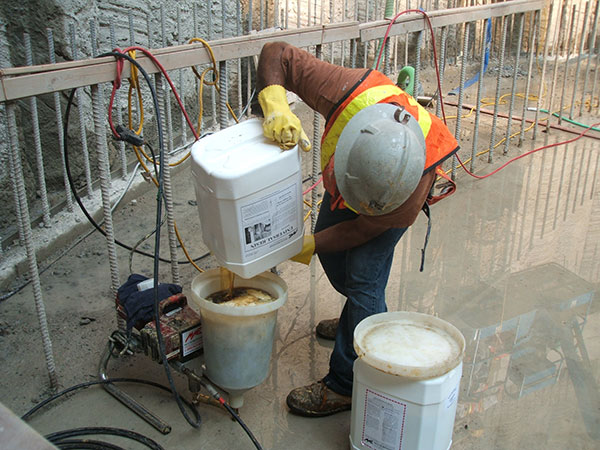 leak sealing waste water project
