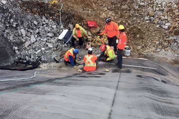 consolidation grouting for construction of a tailings dam