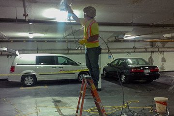 crack injection in underground parking